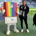 BoilerMan showing his support to the rainbow laces campaign this weekend.