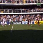 Santos [1]-0 Flamengo : Marinho 15'