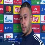 A very upset Memphis Depay talks about what happened after the match between Lyon and Liepzig