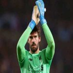 "Alisson Becker in Liverpool's last four ""must-win"" UCL fixtures (Salzburg, Spurs, Barca, Napoli):• Saved 23 of 23 shots • 15 saves from shots inside the box • 4 big chances saved"
