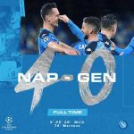 Napoli has qualified for the Champions League Round of 16