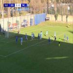 Dinamo Zagreb U19 1-0 Manchester City U19 - Antonio Marin (free-kick) 20'
