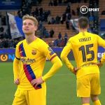 Frenkie de Jong's reaction to Ajax getting knocked out of the Champions League