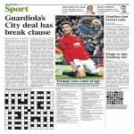 Guardiola has a break clause in his contract at Man City that means he can leave at the end of this season- The Times