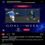 The stunning volley of Dani Olmo against Manchester City got voted as UCL goal of the week