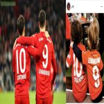 Cute scene as Coutinho's and Lewandowski's kids imitating their celebration at the stadium after one of today's goals