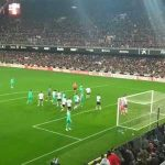 Valverde's celebration against Valencia