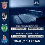 Portuguese League Cup Semi-Finals are set: SC Braga x Sporting CP / Vitória SC x FC Porto