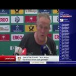 "One of my favourite football moments of the decade: Freiburg head coach Christian Streich about the two-match suspension of Leverkusen's Roger Schmidt for calling Hoffenheim's Nagelsmann a ""moron"" (German: ""Spinner"") during the game."