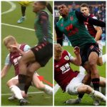 Wesley injury from Ben Mee tackle (Villa vs Burnley)