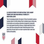 [US Soccer] January Camp to no longer take place in Qatar