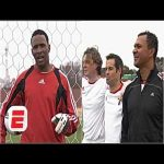 Shaka Hislop faces penalties from Ruud Gullit, Roberto Martinez & Steve McManaman | ESPN FC Archive