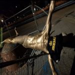 The statue of Zlatan in Malmö was torn down tonight.