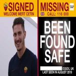 [AS Roma] Brilliant news from our partner @missingpeople! A 15-year-old English boy has become the SIXTH young person featured in the #ASRoma missing children social media campaign to be found safe and well.