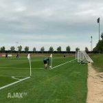 Corner kick goal. Răzvan Marin, Ajax training