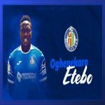 Peter Etebo signs for Getafe on loan from Stoke City, with option to buy