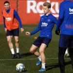 Frenkie de Jong tweets he's back in training
