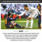 """It was a duel that will last forever"" Messi talks about his rivalry with Ronaldo"