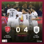 Al-Sadd beat Al-Duhail 4-0 to win their 7th Qatar Cup Trophy, Xavi adds a 2nd trophy to his Managerial cabinet in his debut season.