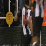 Matt Ritchie kicks corner flag into Newcastle fans groin