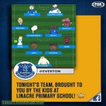 Everton let local school children create portraits of players for the team's lineup graphic vs Newcastle