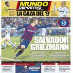 Mundo Deportivo's frontpage: Aubameyang has given his approval to join FC Barcelona and would be excited to wear the 'Azulgrana' shirt.