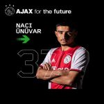 Naci Unuvar makes his Ajax debut, becoming the 2nd youngest debut player for the club behind Ryan Gravenberch and ahead of Clarence Seedorf