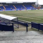 Image of the Prenton Park pitch ahead of Tranmere vs. Watford tonight.