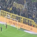 Dortmund's fans with a special message for Brøndby IF.