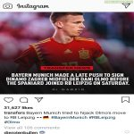 RB Leipzig's Official Account commented with the emoji '🤡' on a post about Bayern hijacking Dani Olmo's deal.