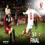CD Mirandés eliminate Sevilla FC (3-1) and advance to the Quarter Finals of la Copa del Rey