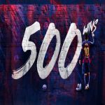 Lionel Messi becomes the first player in Spanish Football's history to win 500 club matches