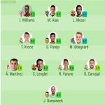 Team Of The Week - Copa Del Rey (Round Of 16) By Sofascore