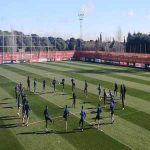 Carrasco already training with Atlético before any official announcement.