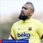 Arturo Vidal misses the match against Levante due to an injury to his left thigh.