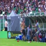 Avaí's Bruno Silva kicks fan in the head