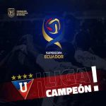 FT. - LDU Quito (1) vs. Delfin (1) (5-4 on penalties). LDU Quito wins the first edition of the Ecuadorian Supercup.