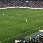 Karim Benzema's goal against Atletico captured from the stands