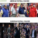 American football coaches vs European football coaches