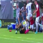 Riots in the stands during Figueirense vs. Avaí. 5 minutes left in the game and a Figueirense fan rushed the Avai bench. The sub keeper tackles him and Bruno Silva comes out of nowhere and kicks him the head