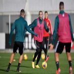 Giorgio Chiellini returns to group training after being out for 6 monhs with an ACL injury.