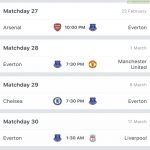 Everton's next 4 fixtures...