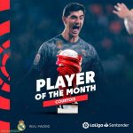 Courtois is La Liga Player of The Month