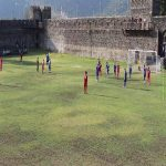 FC Kvareli Duruji who play in the Georgian 5th Division have their pitch inside the walls of an ancient castle.