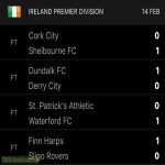 League Of Ireland Results | 14th February