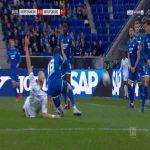 Hoffenheim 0-1 Wolfsburg - Wout Weghorst penalty 17'