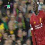 Norwich 0 - [1] Liverpool - Mané 78'