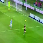 Candreva with a filthy no-look pass