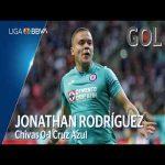 Chivas 0 - [1] Cruz Azul (J. Rodríguez 9')