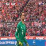 M. Neuer (Bayern München) Tackle on M. Uth 62'